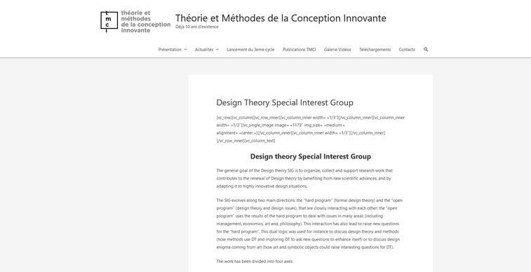 design theory paris workshop