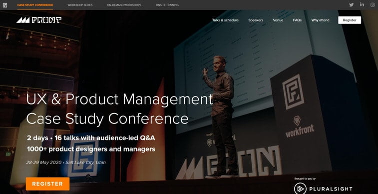 front ux and product management case study conference