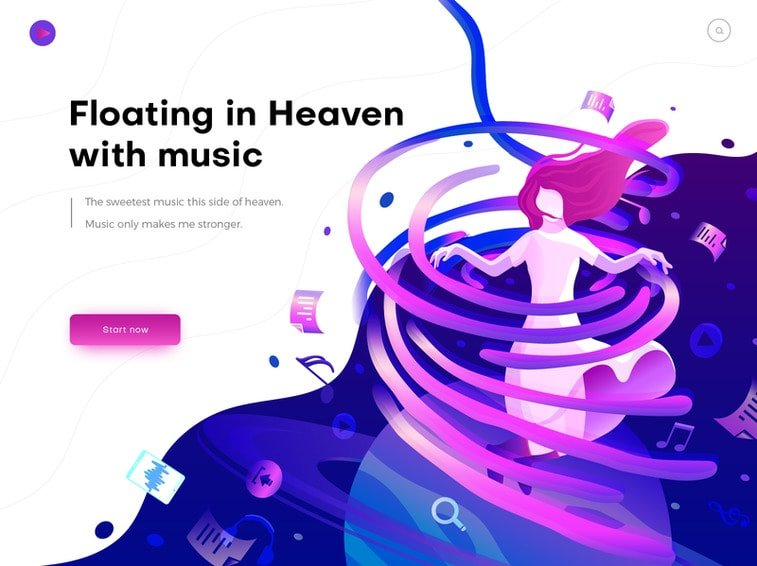 gradient music website