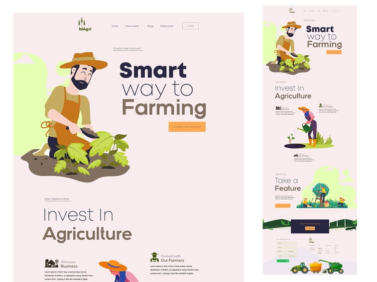 farming illustration website