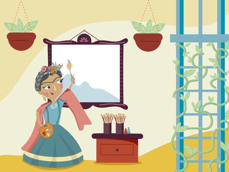 frida kahlo illustration women's day atelier