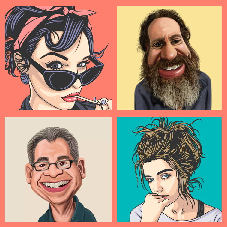8 caricatures as a daily dose of inspiration