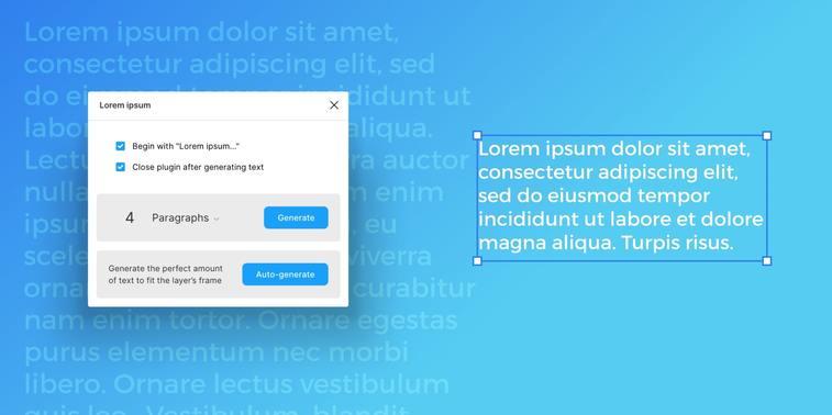 lorem ipsum plugin figma