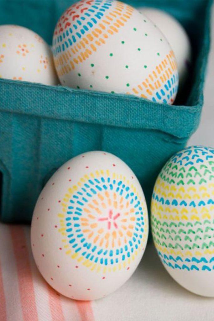 uskrsnja jaja ukrasavanje marker