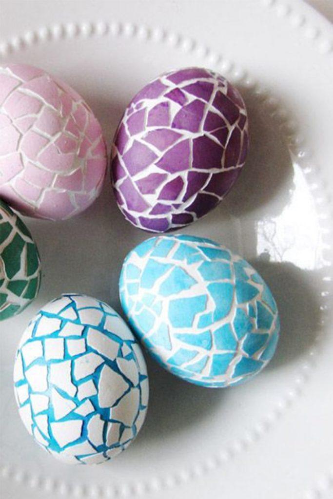 uskrsnja jaja ukrasavanje mozaik
