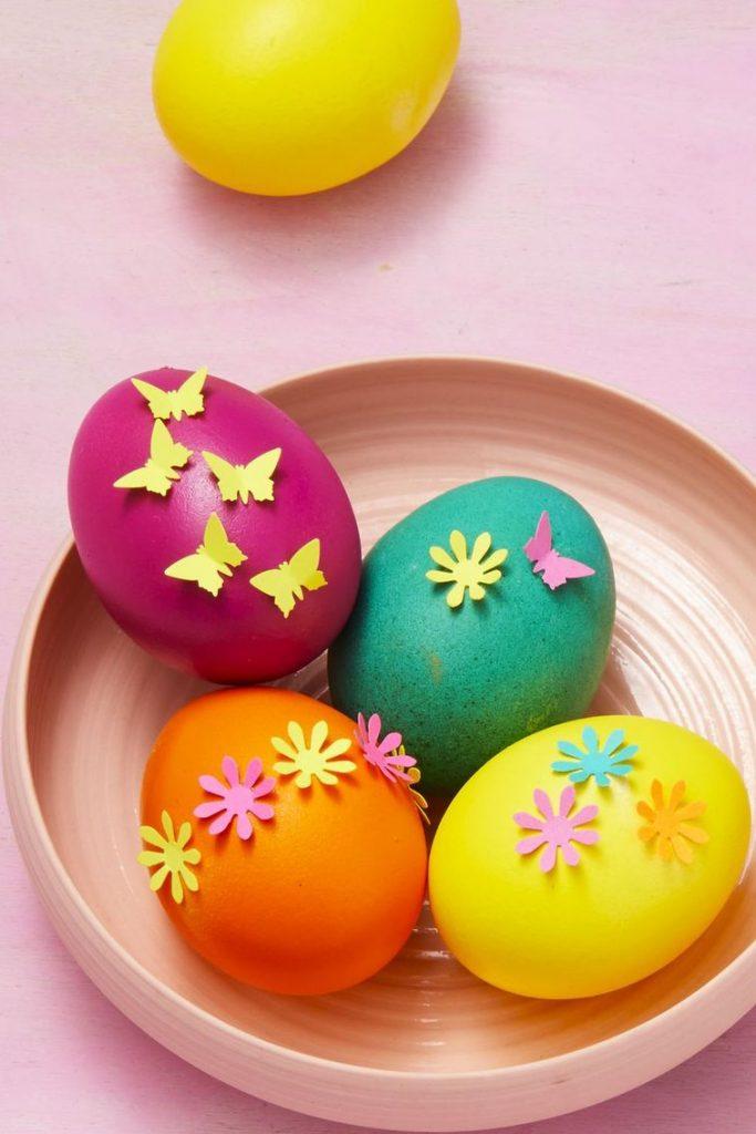 uskrsnja jaja ukrasavanje papirni oblici