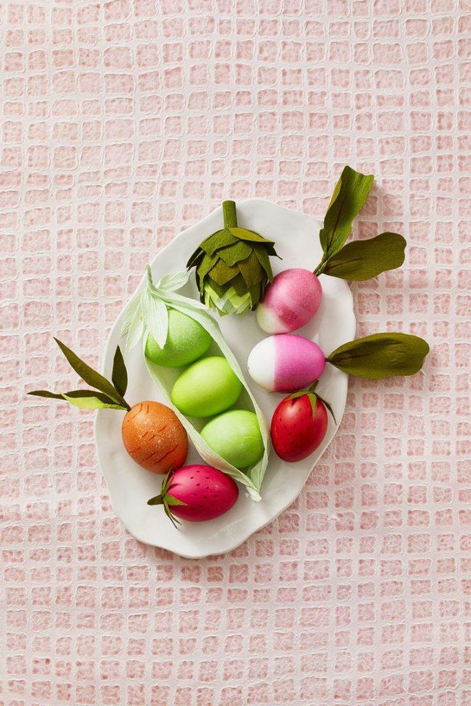 uskrsnja jaja ukrasavanje povrce