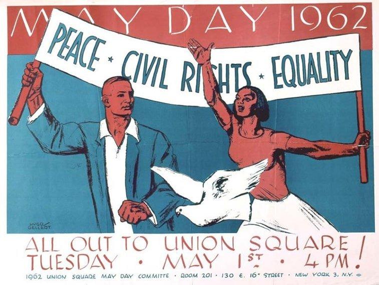 1. maj plakat njujork