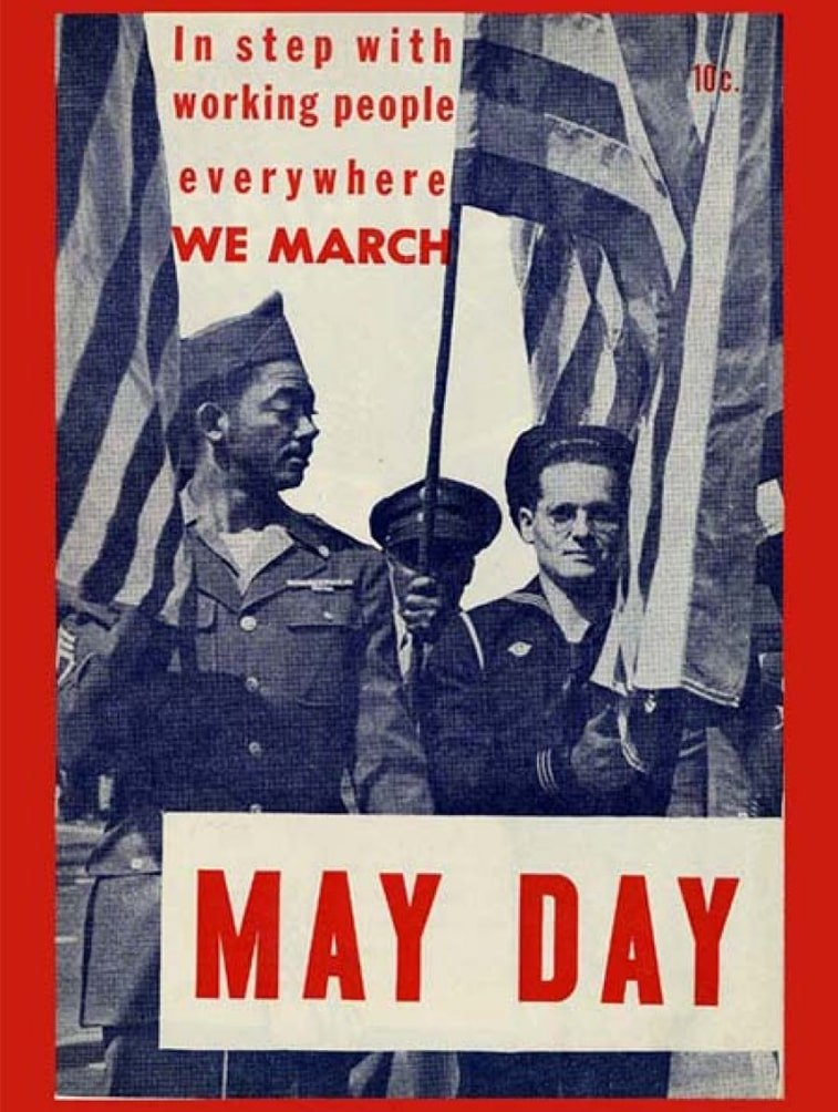 1. maj propagandni plakat njujork