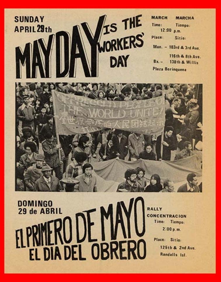 protest njujork 1.maj plakat