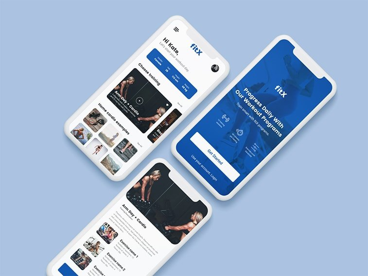 fitness app mobile concept