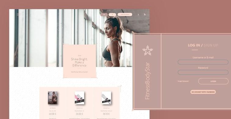 fitness body star online shop regitration form