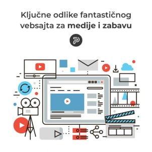 Ključne odlike fantastičnog vebsajta za medije i zabavu