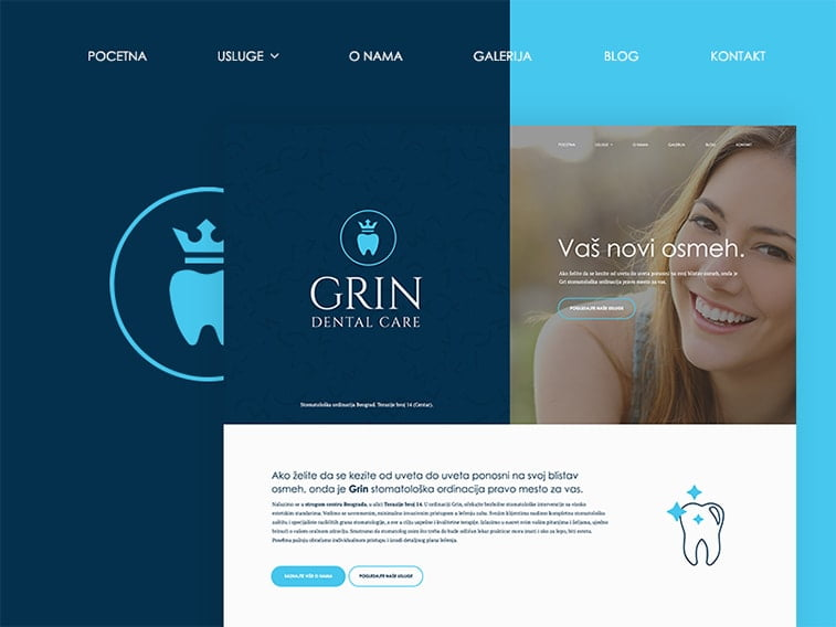 website design dentist dental care