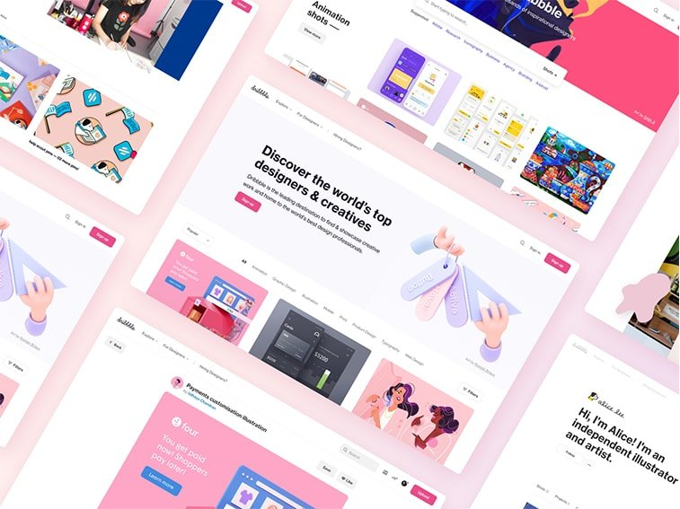consistent website design example dribbble