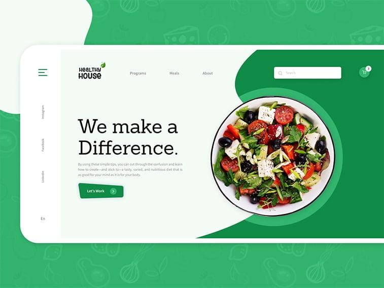 concept website web design healthy food