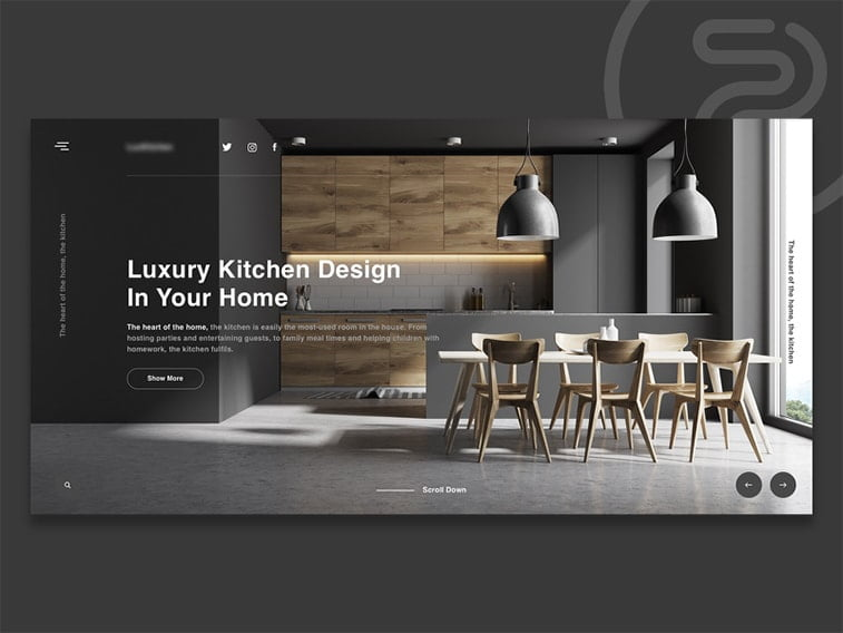 website design kitchen furniture store