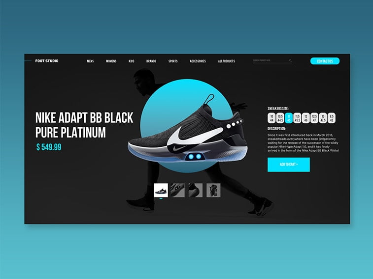 nike website shoes sneakers design redesign
