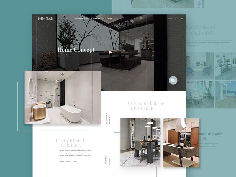 website redesign home furniture store porcelanosa