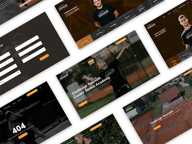 tennis sports academy website
