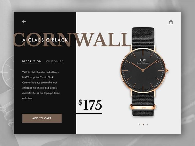 ui ux design ecommerce website accessories jewelry store