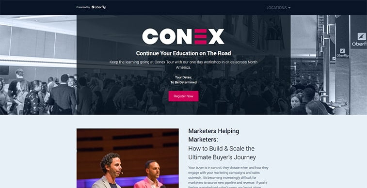 conex 2020 website screenshot