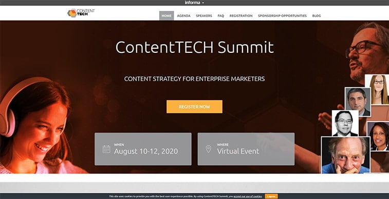 contenttech 2020 website screenshot