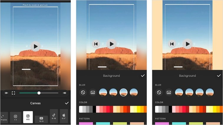 inshot mobile app instagram story