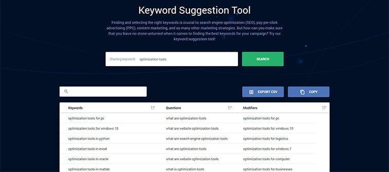 keywordsfx seo optimization tool