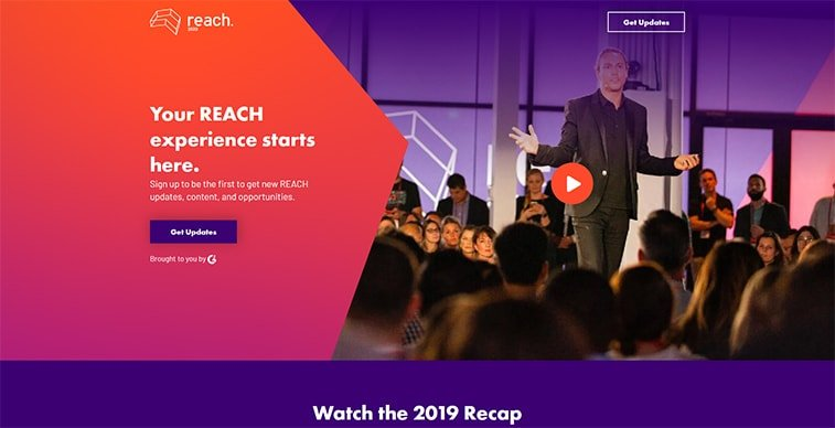 reach 2020 website screenshot