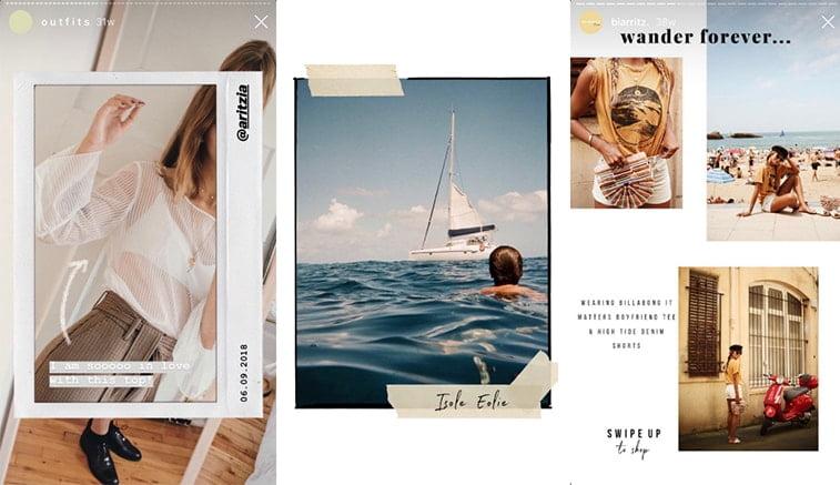 unfold mobile app instagram story