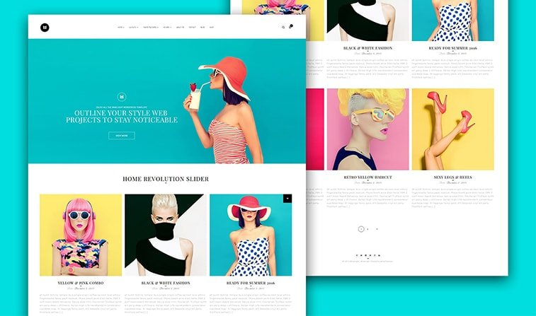 website redesign example fashion magazine online clothes store