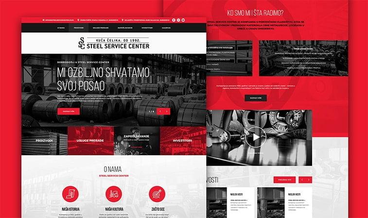 website redesign example steel company engineering