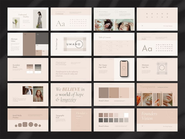 graphic standards manual template business