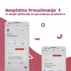 UI dizajn aplikacije za upravljanje projektima – besplatno preuzimanje