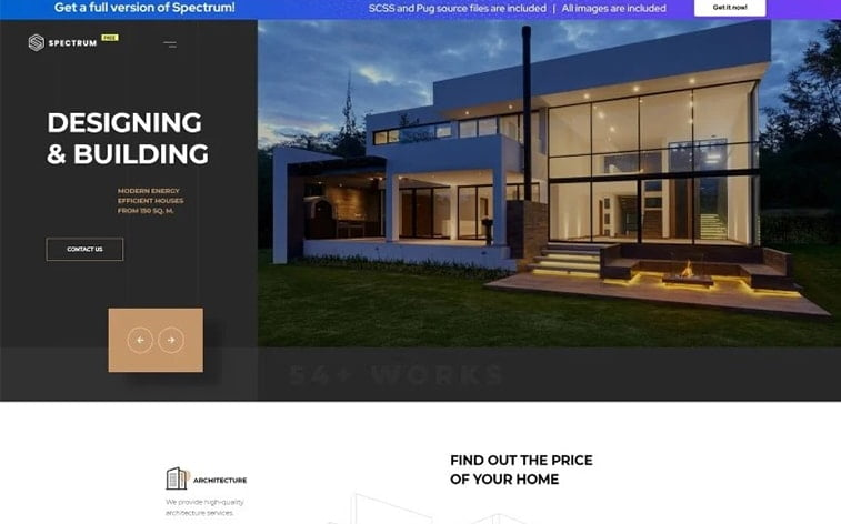 best free botstrap theme template website architecture real estate housing agency