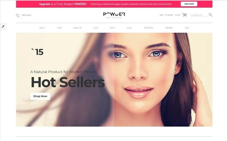 best free botstrap theme template website women care comsetics makeup ecommerce