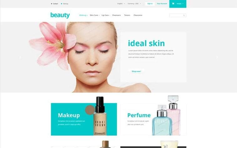 best free botstrap theme template beauty website girl cosmetics