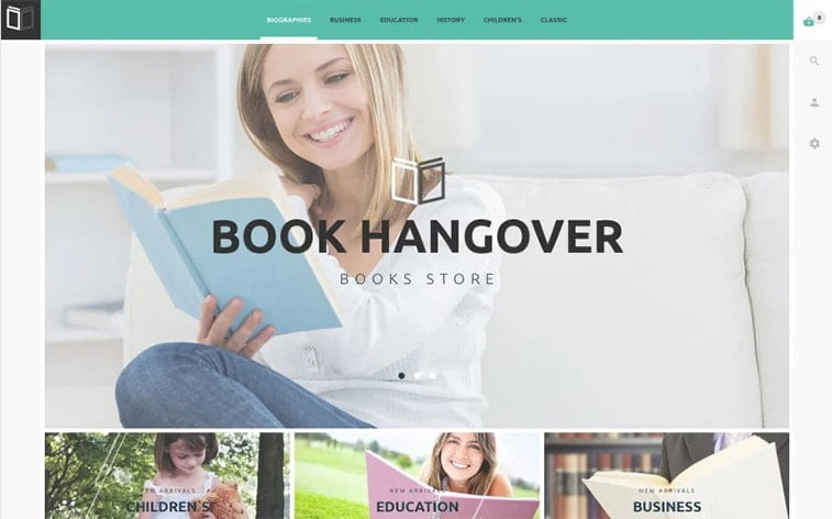 best free botstrap theme template beauty website book club reading library