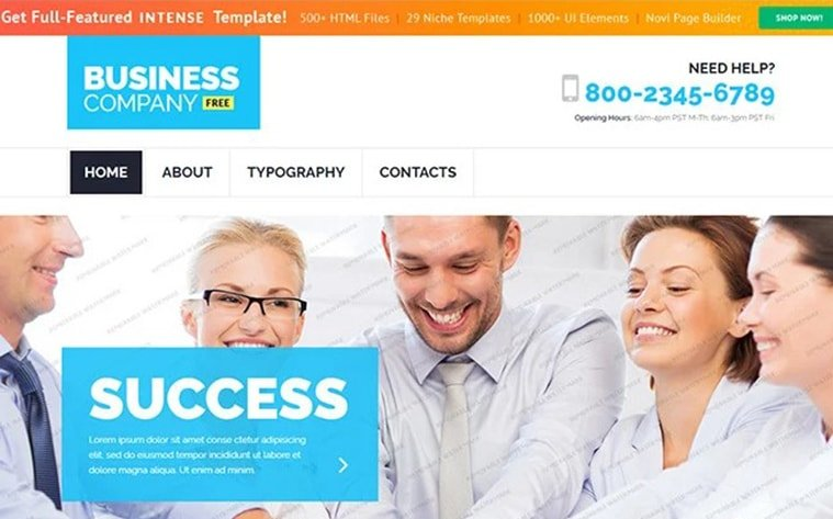 best free botstrap theme template website business agency professional