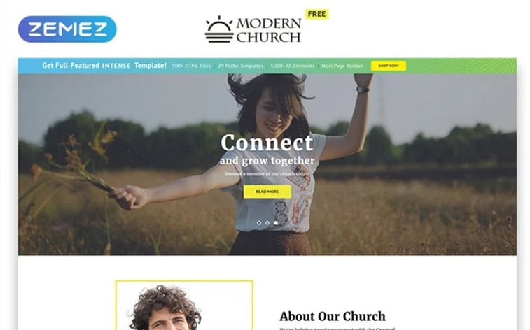 best free botstrap theme template website church religious