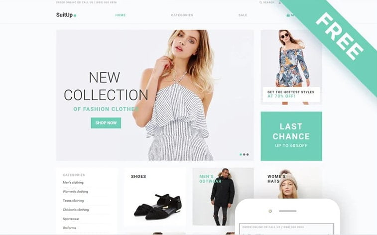 best free botstrap theme template website fashion collection women clothing