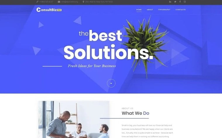 best free botstrap theme template website consult business agency