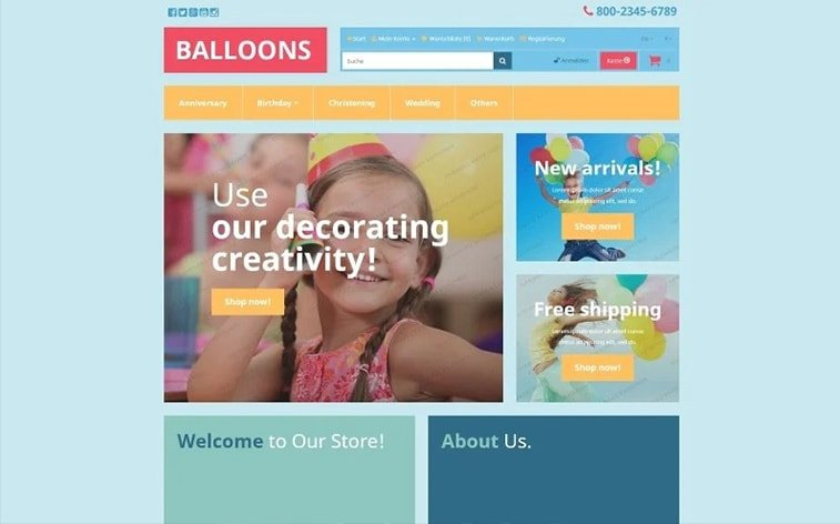 best free botstrap theme template website children playroom baloons presents kindergarden