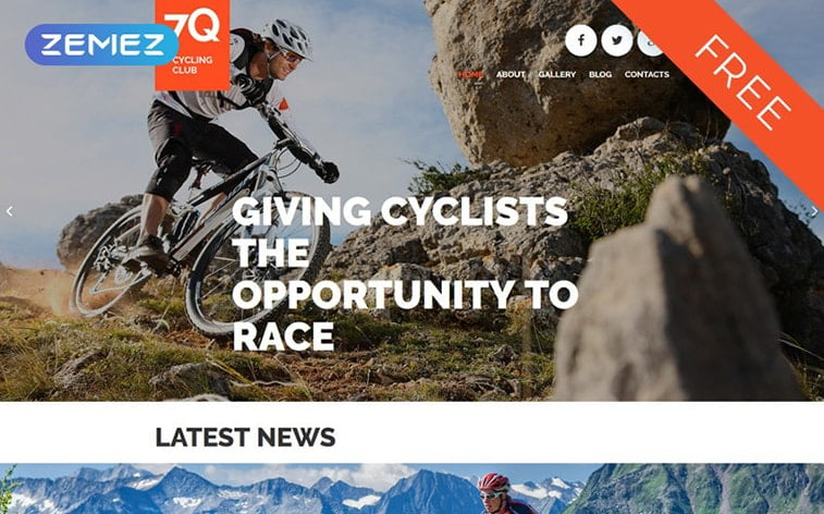 best free botstrap theme template website outdoor cycling gear equipment store ecommerce