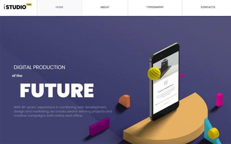 best free botstrap theme template website digital agency it industry