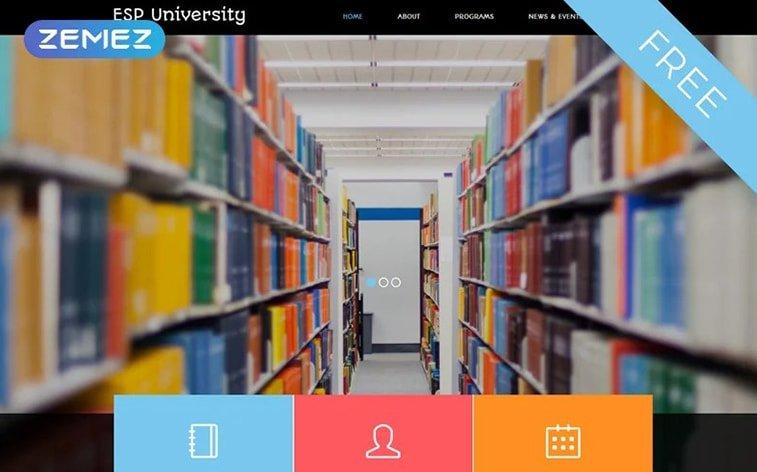 best free botstrap theme template website education university elearning platform school