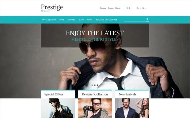 best free botstrap theme template beauty website fashion men