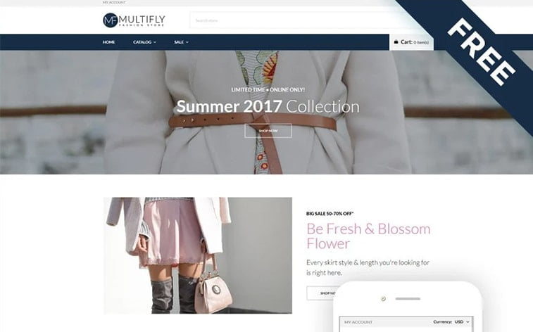best free botstrap theme template website fashion clothes women online store