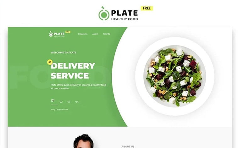 best free botstrap theme template website food delivery restaurant
